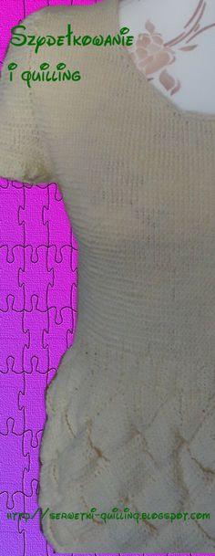 Bluzka z krótkim rękawem zrobiona na drutach.    The short sleeve shirt, which I made on knitting