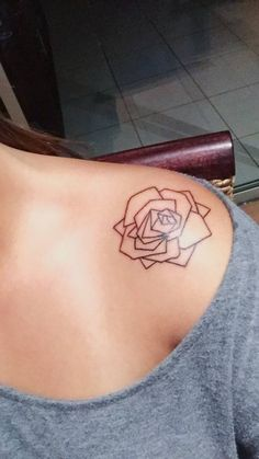 """""""Just a little geometric rose I got done, absolutely dig it"""" on Jodi."""