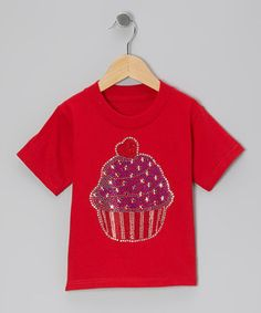 Look what I found on #zulily! Red Flag Cupcake Tee - Toddler & Girls by Ready Set Sparkle Couture #zulilyfinds