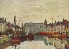 Boudin, Eugéne-Louis - Kanal in Bruxelles - Impressionism - Oil on canvas Claude Monet, Renoir, Pablo Picasso, Canvas Art, Canvas Prints, Art Prints, Eugene Boudin, Oil Painting Gallery, Oil Paintings