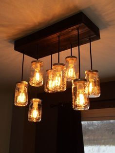 classic mason jar chandeliers custom made. They make the perfect holiday gifts from shop.misandme.com starting at $375.00 with 20% off