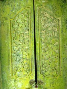 Antique Balinese temple door