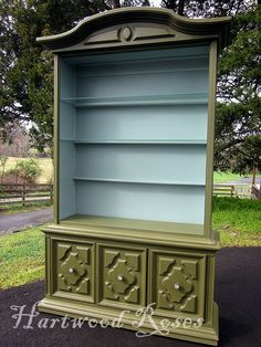 Olive and Duck Egg blue Annie Sloan chalk paint combo