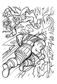 He Man and Battle Cat coloring page