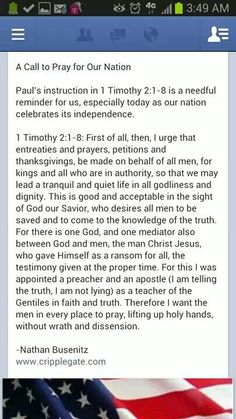 Prayer for nation.