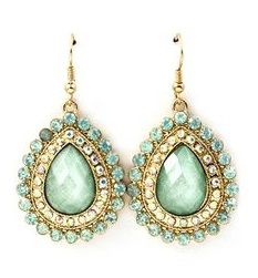 Mint Gold, Pantone Color, Color Trends, Drop Earrings, Teal, Turquoise, Jewelry, Copper, Fashion