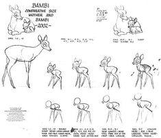 bambi character sheets   Bambi   character and animation design