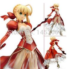 37.43$  Buy here  - Anime Fate Stay Night Fate/EXTRA Ver. Red Saber PVC Action Figure Collection Model Toy 26CM