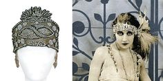 Flapper Headbands Make Your Own | Left: source unknown; right: Het Leven magazine, 1920.