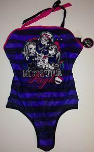 Monster High Girls One Piece Swimsuit 10 12 New Swim Suit New Swimwear | eBay