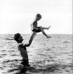 RFK with his son David