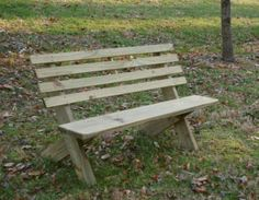 University of Tennessee Trail Bench: simple, clear instructions to build a trail rated bench for your own backyard.