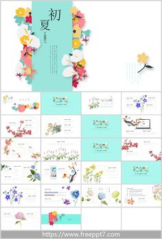 Beautiful Literary Style PowerPoint Template : With beautiful flowers as the background, reflecting the early summer scenery, has a fresh and pleasant literary style, suitable for various types of PowerPoint demonstration. This PPT template is quite Ppt Free, Powerpoint Template Free, Powerpoint Themes, Beautiful Flowers, Scenery, Layout, Fresh, Templates, Summer