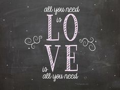 LOVE Chalkboard Background  for computer, iPhone and iPad at TidyMom.net