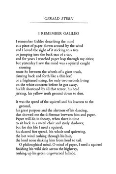 """I Remember Galileo"" by Gerald Stern | #poetry | via #poetryfoundation | #pin"