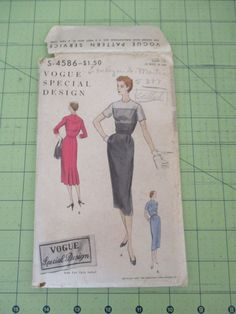 UNCUT 1950s Vogue Special Design S-4586 Sewing Pattern