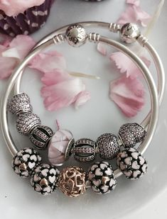 Ready for a bracelet with pink enamel and cz charms #PANDORAbracelet