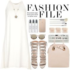 Chloé Crepe Dress by crblackflag on Polyvore featuring Chloé, Gianvito Rossi, Burberry, Annoushka, Sheriff&Cherry, Cath Kidston, Byredo, Elie Saab, dress and sandals