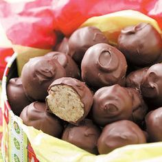 Chocolate Cream Bonbons Recipe -My grandmother gave me this tasty recipe when I was a girl. Some of my fondest childhood memories are of her huge kitchen and all the delicious treats she made. —Joan Lewis, Reno, Nevada
