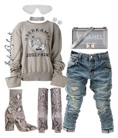 """StyledByLeek"" by stylebywho on Polyvore featuring Emilio Pucci, BBon-J, Maison Margiela, adidas Originals, Chanel and Kobelli"