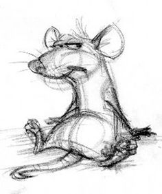 Living Lines Library: Ratatouille - Conceptual Art - Carter Goodrich - . - Living Lines Library: Ratatouille – Conceptual Art – Carter Goodrich – - Cartoon Sketches, Animal Sketches, Animal Drawings, Drawing Sketches, Art Drawings, Drawing Animals, Pencil Drawings, Drawing Ideas, Sketching