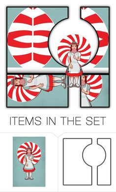 """""""Lollipops: 2 items"""" by capricat ❤ liked on Polyvore featuring art"""