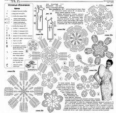 Graficos y Crochet: Vestido en crochet ruso