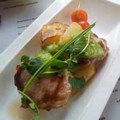 Pork with basil mustard at La Azotea in Sevilla
