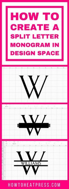 How To Create A Split Letter Monogram In Cricut Design Space Easy Tutorial! is part of crafts Projects Vinyl - Make a split monogram for your loved ones with this tutorial I use Cricut Design Space to make a simple split monogram for craft projects Cricut Monogram, Cricut Fonts, Monogram Letters, How To Monogram, Cricut Air 2, Shilouette Cameo, How To Use Cricut, Cricut Help, Cricut Craft Room