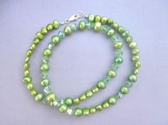 Freshwater Pearls Necklace green