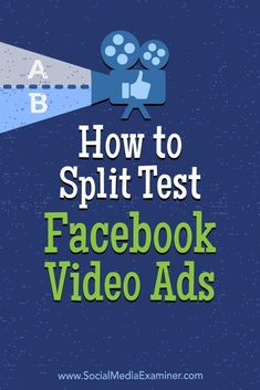 Split testing different variations of video ads will help you identify the content that resonates best with your Facebook audience.
