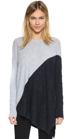 alice + olivia Bias Boxy Sweater | SHOPBOP