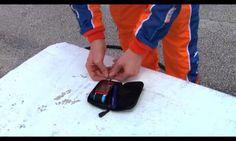Charlie Kimball testing his blood sugar