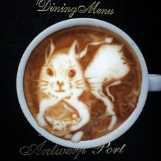 Good morning **Feelin' Squirrely** friends (or afternoon or evening wherever you might be). Squirrel Art, Secret Squirrel, Baby Squirrel, Coffee Break, Coffee Time, Latte Art, Kakao, Rodents, Coffee Art