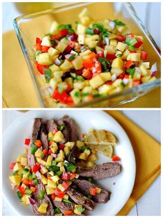 Southwest Flank Steak with Peach Salsa Recipe