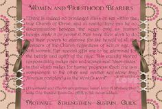 manual aaronic priesthood lesson understanding womens roles