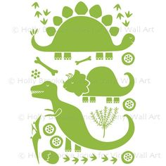 Dinosaur Wall Decals MEDIUM (Set of 21)