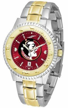 Florida State University Seminoles Competitor Anochrome - Two-tone Band - Men's - Men's College Watches by Sports Memorabilia. $95.43. Makes a Great Gift!. Florida State University Seminoles Competitor Anochrome - Two-tone Band - Men's