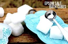 Here's a super easy way to make your own bath cubes out of epsom salts!  These little guys make great gifts, and are an inexpensive alternative to bath bombs. Please visit our blog for more DIYs and adventures!  We love making new friends and adore comments from our readers.  Come see us anytime at www.pearllovesearl.com.  Thanks!  Let's get started!  You'll need: