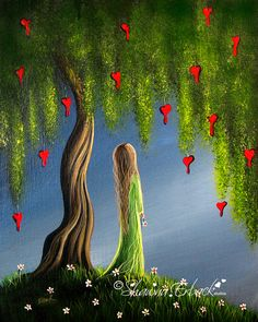 Colorful Magical ART PRINT Night Of The Bleeding by shawnaerback, $10.00