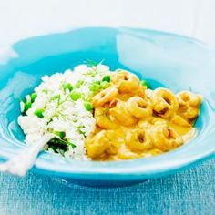 Räkor i currysås