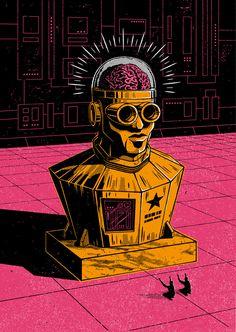 Teorías sobre el fin del mundo ilustradas por Andrew Fairclough  #ilustracion