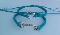 Key To My Heart Couples Bracelets Heart and by SimplyEdgyDesigns, $10.00