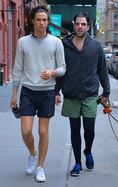 Zachary Quinto and Boyfriend Miles McMillan Out Walking Their Dogs in New York City