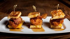 Get your fried fix right at home! Make Pork Slope's Chicken and Waffle Sliders.