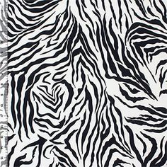 Black Zebra Stripes Cotton Spandex Knit Fabric - Girl Charlee - Emmy Clothes
