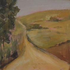 Rural Road  Original abstract painting  acrylic by VESNAsART