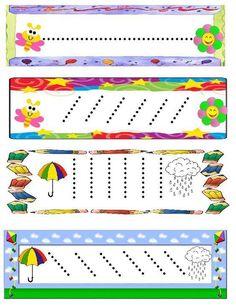 Preschool Writing, Preschool At Home, Preschool Classroom, Preschool Worksheets, Preschool Activities, Kindergarten, Nursery Activities, Motor Activities, Handwriting Activities