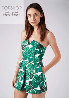 This weeks Weekly Weakness has Cathy ready for the summer sunshine and trips to the beach in this Topshop Palm Print Skort Romper!