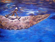 Volaverunt - Acrílico sobre tabla - 85 x 60 cm - Amgros Arte